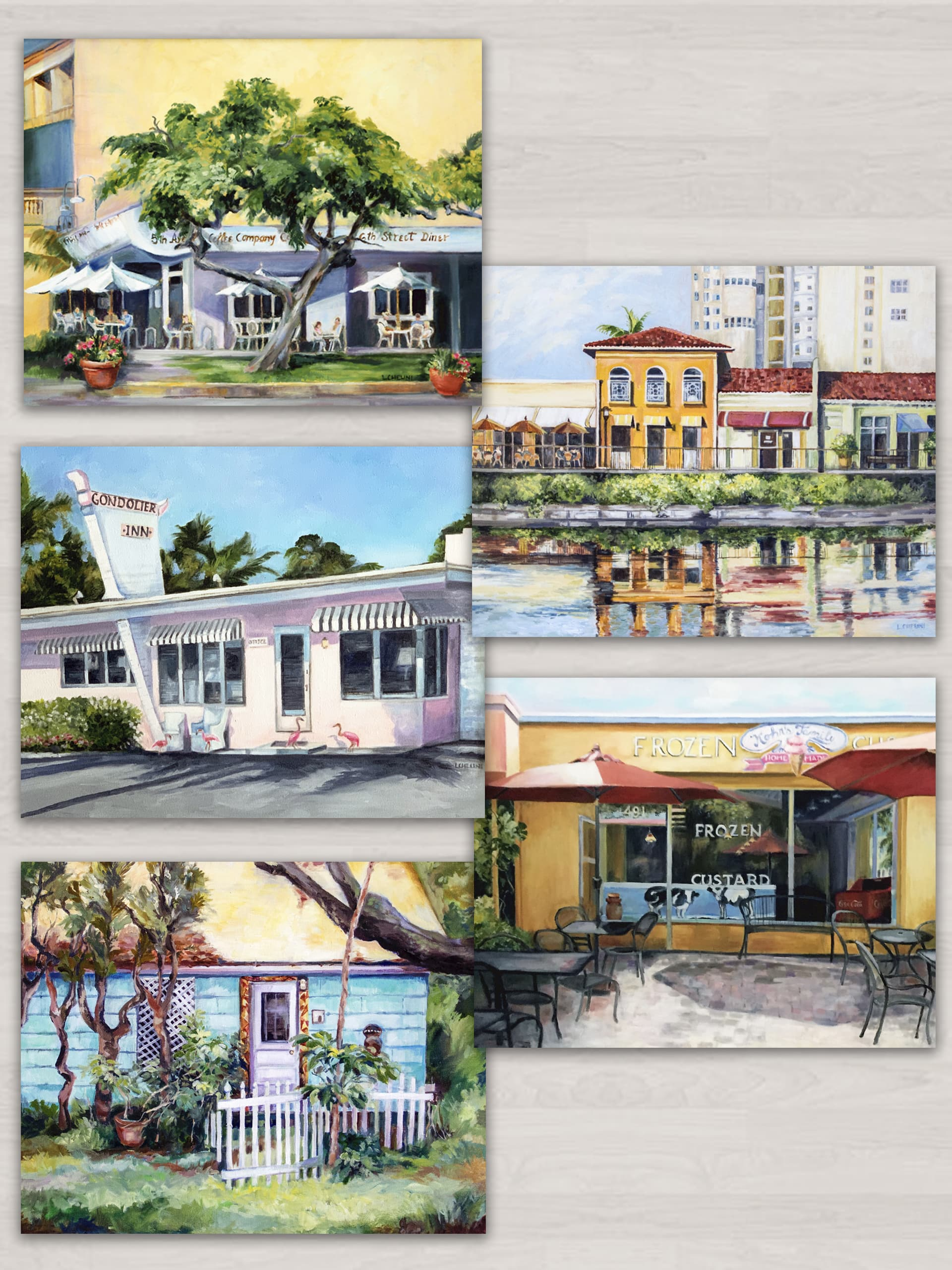 prints of original oils by laura chelini, naples florida, series one