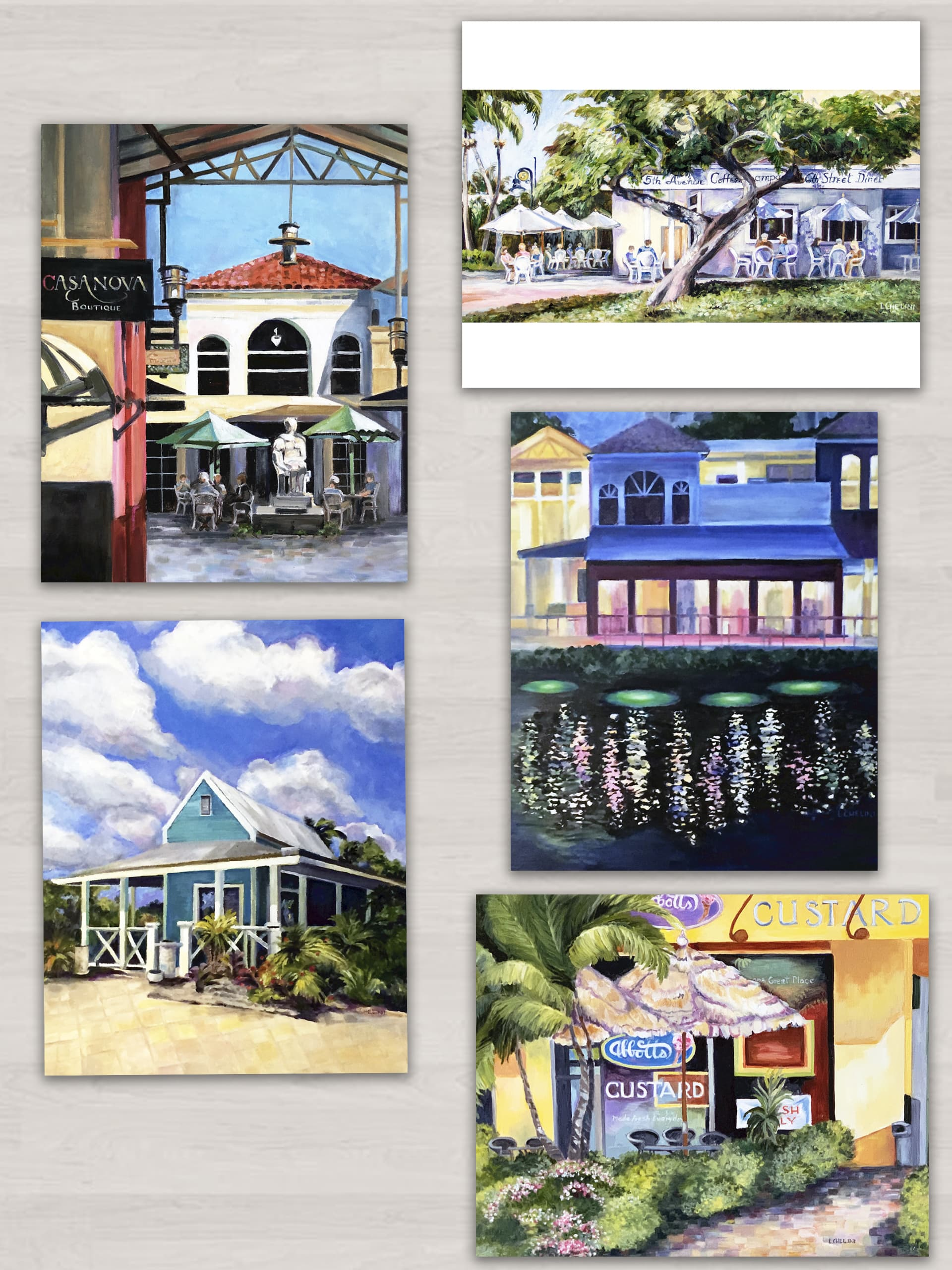 prints of original oils by laura chelini, naples florida, series two