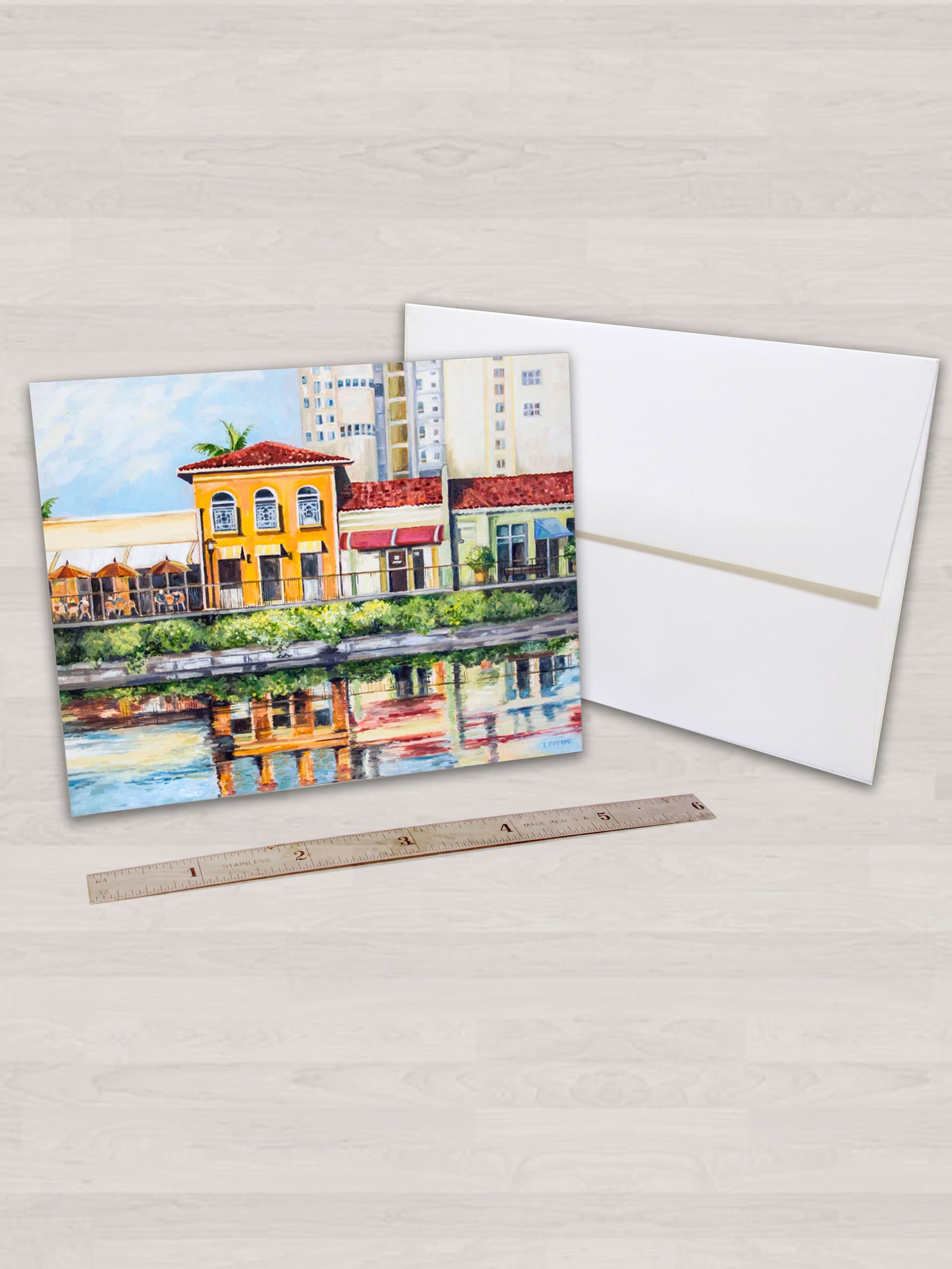 "4"" x 5"" notecard with white envelope"
